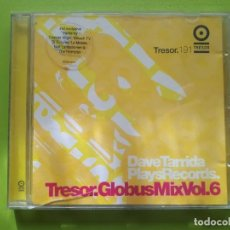 CDs de Música: DAVE TARRIDA PLAYS RECORDS - TRESOR - GLOBUS MIX VOL. 6 - 2002 - COMPRA MÍNIMA 3 EUROS. Lote 204427042