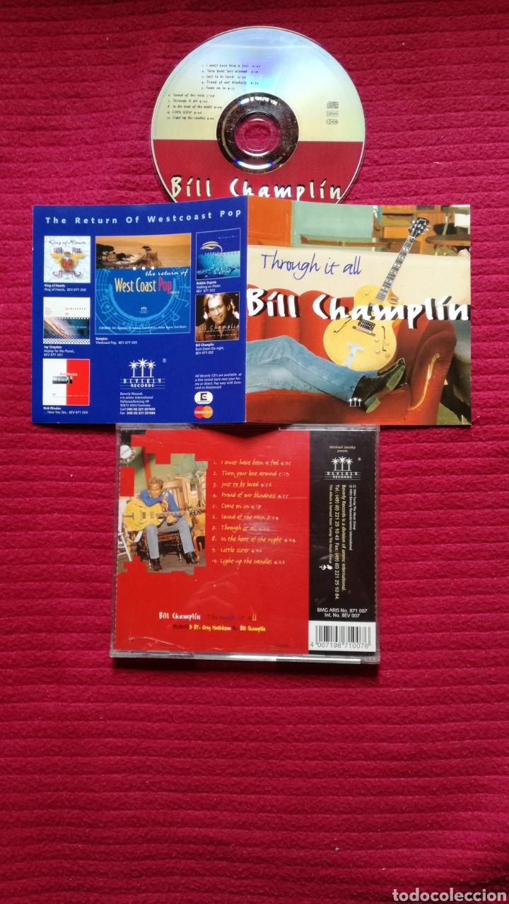 BILL CHAMPLIN : THROUGH IT ALL; CD AOR WEST COAST 1994. (Música - CD's Rock)