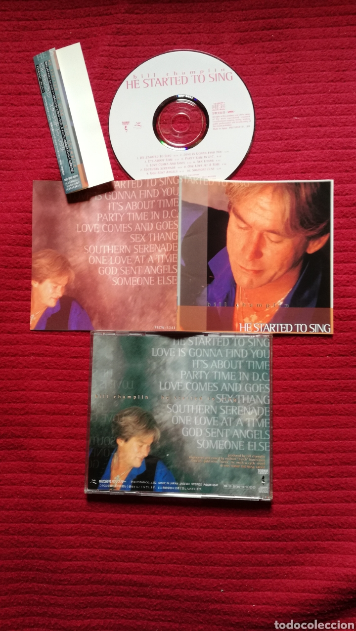 BILL CHAMPLIN: HE STARTED TO SING; CD AOR WEST COAST 1995 MADE IN JAPAN. (Música - CD's Rock)