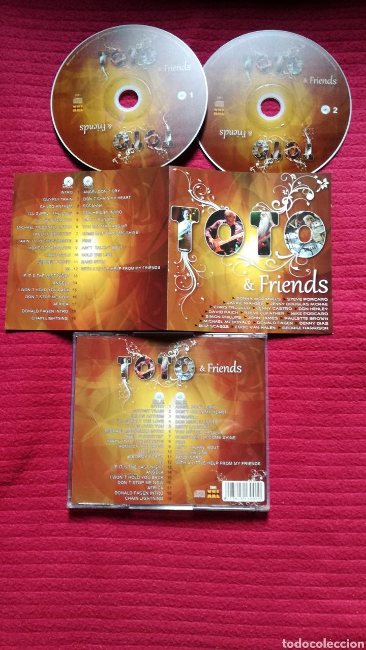 TOTO: TOTO & FRIENDS; MUY RARO, CON DON HENLEY, MICHAEL MCDONALD, DONALD FAGEN, BOZ SCAGS, ETC. (Música - CD's Rock)