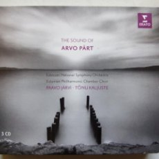CDs de Música: THE SOUND OF ARVO PÄRT. 3 CD'S ERATO EU 2015 ESTONIAN SYMPHONY ORCHESTRA. PAAVO JÄRVI. TÔNU KALJUSTE. Lote 204467045