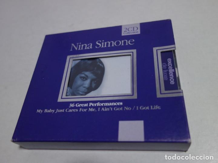 2 CD COLLECTION NINA SIMONE. EXCELLENCE DE LUXE. 36 GREATS PERFORMANCES.NUEVO. (Música - CD's Otros Estilos)