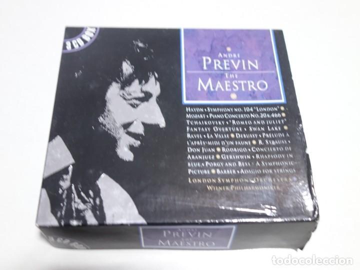 3 CD BOX. ANDRÉ PREVIN. THE MAESTRO. LONDON YMPHONY ORCHESTRA. CD1. CD2. CD3. (Música - CD's Otros Estilos)