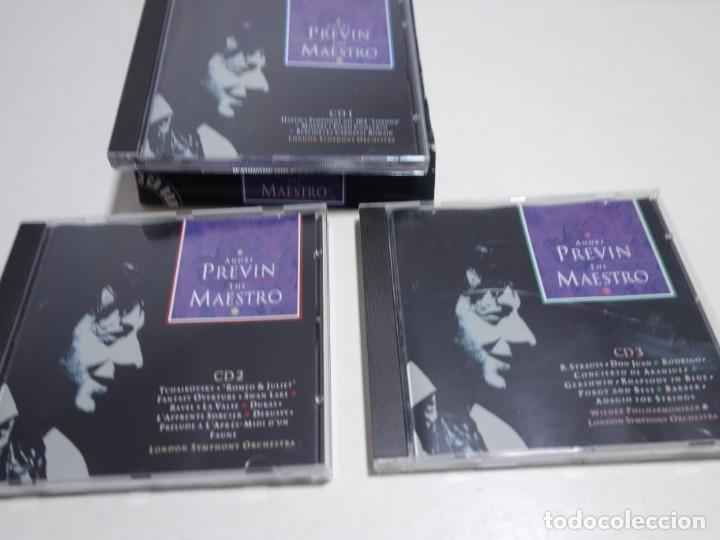 CDs de Música: 3 CD BOX. ANDRÉ PREVIN. THE MAESTRO. LONDON YMPHONY ORCHESTRA. CD1. CD2. CD3. - Foto 2 - 204485407