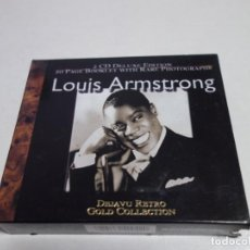 CDs de Música: 2 CD DELUXE EDITION. 20 PAGES BOOKLET WITH RARE PHOTOGRAPHS . LOUIS ARMSTRONG. NUEVO.. Lote 204485708