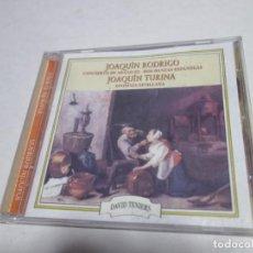 CDs de Música: CD JOAQUÍN RODRIGO. CONCIERTO DE ARANJUEZ. DOS DANZAS ESPAÑOLAS. JOAQUÍN TURINA. SINFONIA SEVILLANA. Lote 204486510