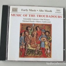 CDs de Música: MUSIC OF THE TROUBADOURS. MÚSICA DE LOS TROVADORES. Lote 204590075
