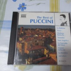 CDs de Música: CD THE BEST OF PUCCINI. 20 TEMAS.. Lote 204693355