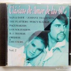 CDs de Música: CD CLÁSICOS DE AMOR DE LOS 60´S VOL. 2, (VG+_VG+). Lote 204707161