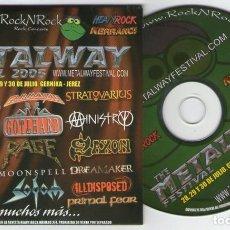 CDs de Música: METALWAY 2006 (HELLOWEEN, GAMMARAY, EDGUY, SAXON, SODOM, MINISTRY, KREATOR, RAGE.... Lote 204714236
