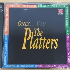 CDs de Música: DOBLE CD DE THE PLATTERS - ONLY YOU. DIVUCSA, 1995. Lote 51050452