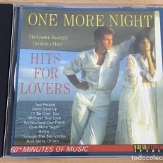 CDs de Música: CD HITS FOR LOVERS - ONE MORE NIGHT, POR THE LONDON STARLIGHT ORCHESTRA. STAR INC., 1987. Lote 51052896