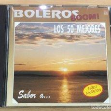 CDs de Música: CD BOLEROS BOOM! - LOS 50 MEJORES BOLEROS. EDICIONES MUSICALES HORUS, 1993. Lote 51053022