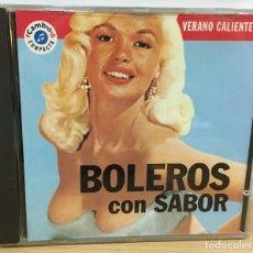 CDs de Música: CD VERANO CALIENTE Nº 1 - BOLEROS CON SABOR, POR ORQUESTA LOS SONEROS DEL CALLAO. CAMBIO 16. Lote 51053165