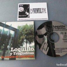 CDs de Música: LOQUILLO Y TROGLODITAS - EL PARQUE DE CERVANTES (CD- SINGLE, PROMO) HISPAVOX 8 76129 2. Lote 204735087