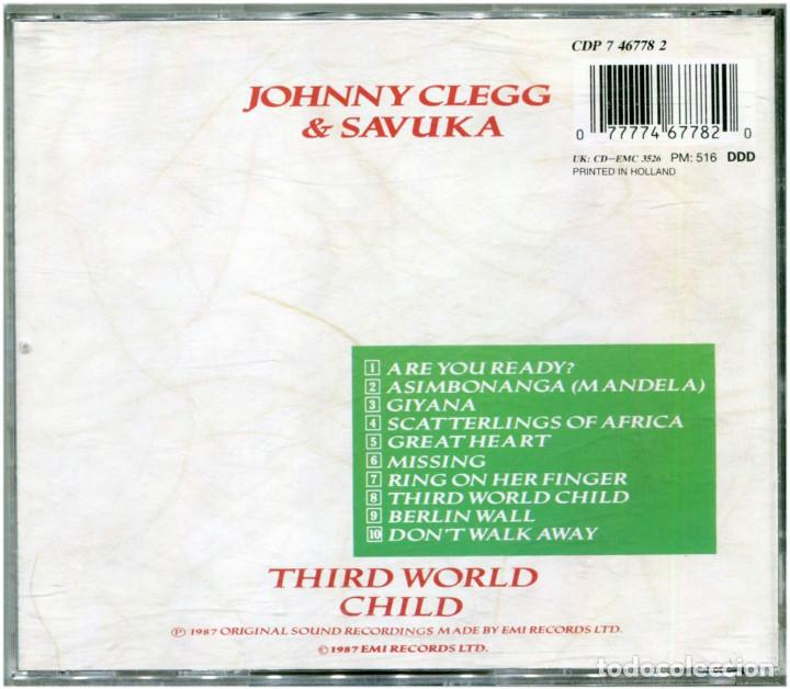CDs de Música: Johnny Clegg & Savuka – Third World Child - CD Holland 1987 - EMI CDP 7467782 - Foto 2 - 204826382