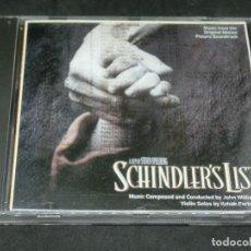 CDs de Musique: CD - LA LISTA DE SCHINDLER - SCHINDLER'S LIST - JOHN WILLIAMS - BANDA SONORA ORIGINAL - BSO -1995. Lote 204843406