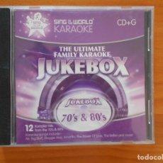 CDs de Música: CD SING TO THE WORLD KARAOKE - 70'S & 80'S - LEER DESCRIPCION (GN). Lote 205004857
