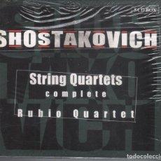 CDs de Música: SHOSTAKOVICH: CUARTETOS COMPLETOS. CUARTETO RUBIO 5 CDS . NUEVO PRECINTADO. Lote 205142576