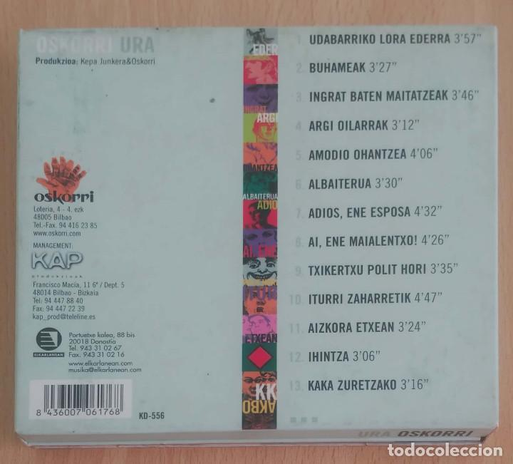 CDs de Música: OSKORRI (URA) CD 2000 Caja Despregable - Foto 2 - 205197030