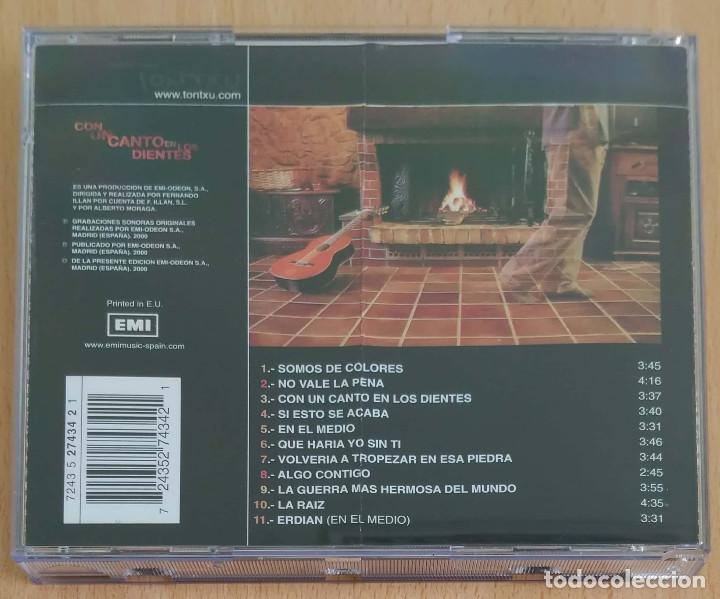 CDs de Música: TONTXU (CON UN CANTO EN LOS DIENTES) CD 2000 - Foto 2 - 205197208