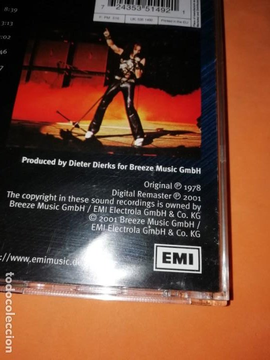 CDs de Música: SCORPIONS. TOKYO TAPES. EMI ELECTROLA GMBH & CO. KG 2001. ORIGINAL 1978 - Foto 6 - 205259278
