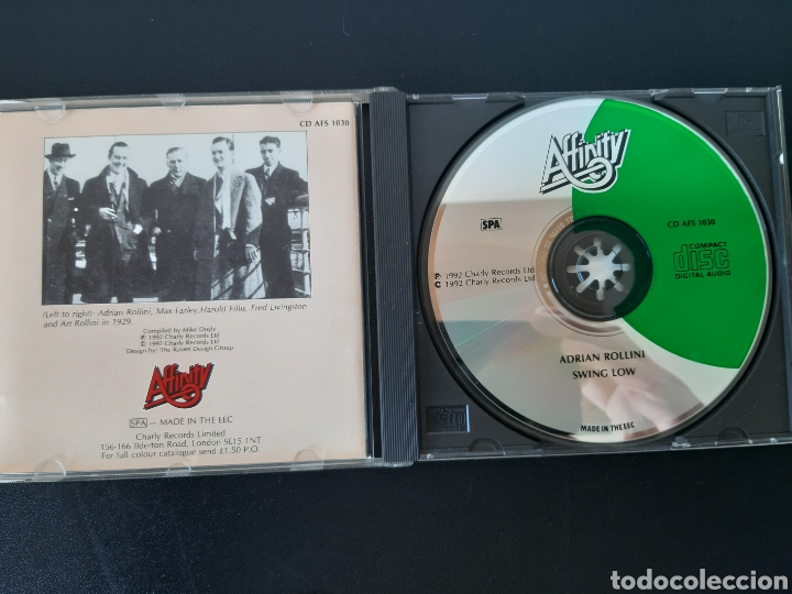 CDs de Música: MUY DIFÍCIL!!! ADRIAN ROLLINI. SWING LOW. AFFINITY. COMPILATION. 1992 - Foto 2 - 205286246