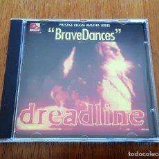 CDs de Música: DREADLINE CD BRAVE DANCES (PRESTIGE CDSGP 0212 - 1996) REGGAE. Lote 205302548