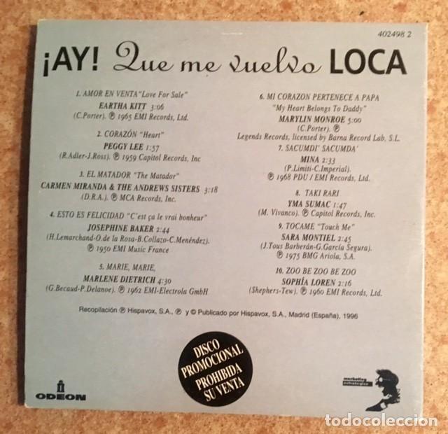 CDs de Música: PEGGY LEE. CARMEN MIRANDA, JOSEPHINE BAKER, MARLENE DIETRICH, MARYLIN MONROE, MINA, SARA MONTIEL... - Foto 3 - 216370096