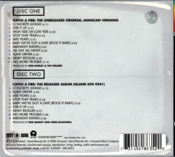 CDs de Música: BOB MARLEY & THE WAILERS CATCH A FIRE DIGIPACK 2 CDs NUEVO EDICIÓN DELUXE LIBRO 28 pag - Foto 2 - 205331748