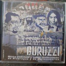 CDs de Música: RARO! GURUZZI. MUSICA TRADICIONAL Y CANTOS REVOLUCIONARIOS DE NICARAGUA Y LATINOAMERICA.. Lote 205379476