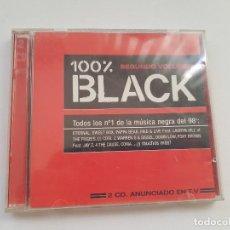 CDs de Música: DOBLE CD 100% BLACK (SEGUNDO VOLUMEN) 1998. Lote 205390256