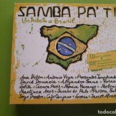 CDs de Música: SAMBA PA TI - UN TRIBUTO A BRASIL - DIGIPACK - CD + DVD - 2005 - COMPRA MÍNIMA 3 EUROS. Lote 205562033