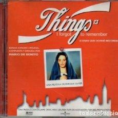 CDs de Música: THINGS I FORGOT TO REMEMBER (COSAS QUE OLVIDÉ RECORDAR) / MARIO DE BENITO CD BSO. Lote 205567503