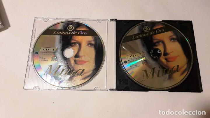 CDs de Música: CD MINA - DOBLE CD - COLECCIÓN LATINOS DE ORO Nº 2 - 2002 - Foto 2 - 205606176