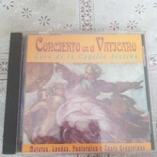 CDs de Música: CONCIERTO EN EL VATICANO. Lote 205665921