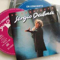 CDs de Música: CD DOBLE, SERGIO DALMA EN CONCIERTO, ESPAÑA 1996 (VG+_VG+). Lote 205729400
