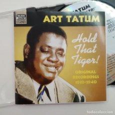 CDs de Música: CD ART TATUM - HOLD THAT TIGER! ORIGINAL RECORDINGS, NAXOS JAZZ LEGENDS 8.120610 ,COMO NUEVO (NM_NM). Lote 205730812