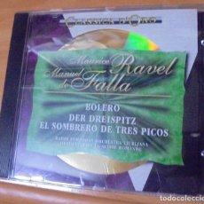 CDs de Música: CD MAURICE RAVEL MANUEL DE FALLA CLASSICA DE ORO 1994. Lote 205735696