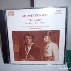 CDs de Música: SHOSTAKOVICH: THE GADFLY/FIVE DAYS-FIVE NIGHTS [CD]. Lote 205737707