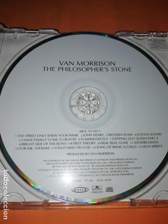 CDs de Música: VAN MORRISON. THE PHILOSOPHERS STONE. DOBLE CD. EXILE PRODUCTIONS 1998. RARO. - Foto 11 - 205780721