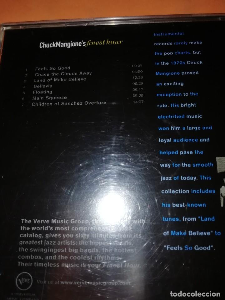 CDs de Música: CHUCK MANGIONES FINEST HOUR. THE VERVE MUSIC GROUP. 2000. CD. MADE IN THE EU. RARO. - Foto 5 - 205784335