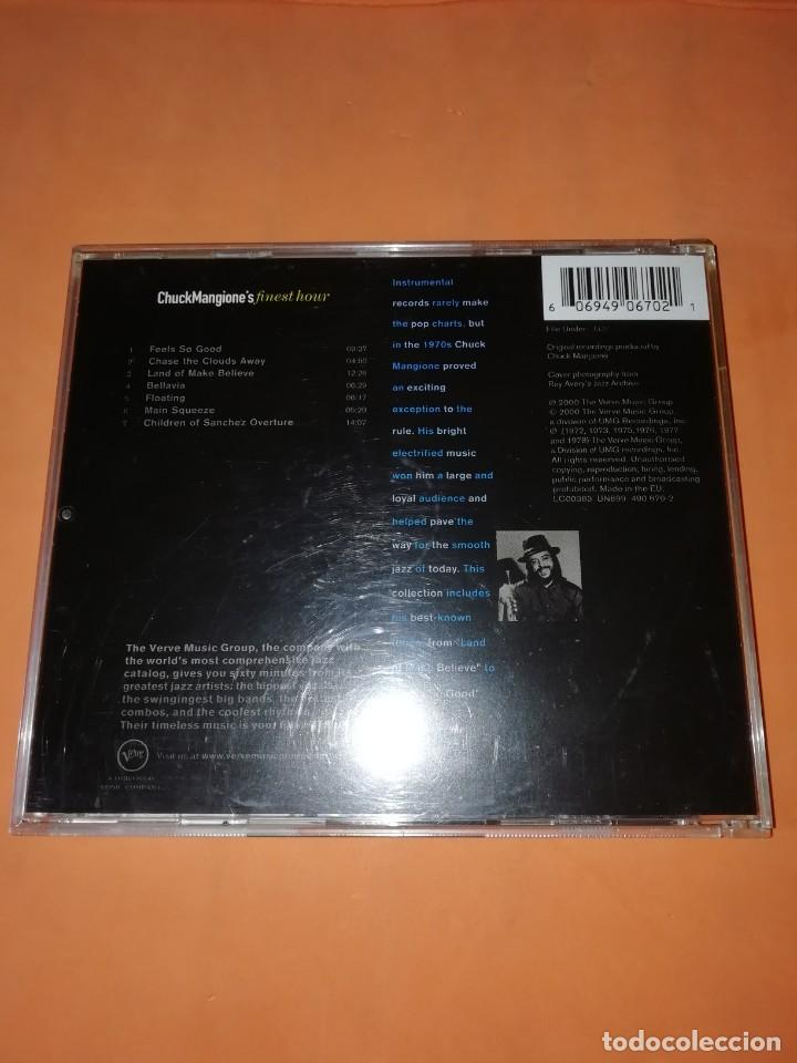 CDs de Música: CHUCK MANGIONES FINEST HOUR. THE VERVE MUSIC GROUP. 2000. CD. MADE IN THE EU. RARO. - Foto 2 - 205784335