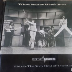 CDs de Música: THE WHO WHO S BETTER , WHO S BEST. Lote 205852983