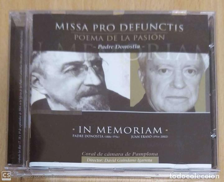 MISSA PRO DEFUNCTIS (POEMA DE LA PASION - PADRE DONOSTIA) CD 2004 CORAL CAMARA DE PAMPLONA (Música - CD's Clásica, Ópera, Zarzuela y Marchas)