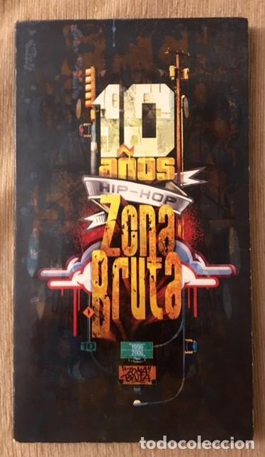 10 AÑOS DE HIP-HOP - ZONA BRUTA - 2 CDS Y 2 DVDS (Música - CD's Hip hop)