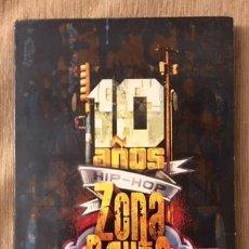 CDs de Música: 10 AÑOS DE HIP-HOP - ZONA BRUTA - 2 CDS Y 2 DVDS. Lote 206179450