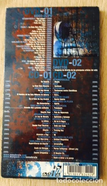 CDs de Música: 10 AÑOS DE HIP-HOP - ZONA BRUTA - 2 CDS Y 2 DVDs - Foto 3 - 206179450