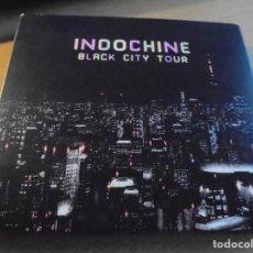 CDs de Música: RAR 2 CD'S. INDOCHINE. BLACK CITY TOUR. DIGIPACK. FALTA LIBRETO INTERIOR. Lote 206190518
