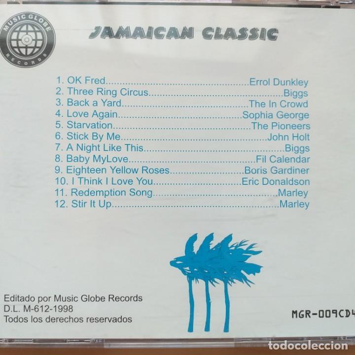 CDs de Música: JAMAICAN CLASSIC MUSIC GLOBE RECORDS (CD) 1998 - Foto 2 - 206249536